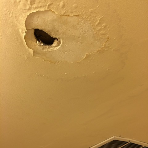 laundry room ceiling leak 6-22-14