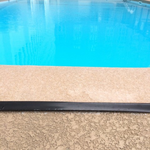slipshod pool repair with electric tape 6-19-14